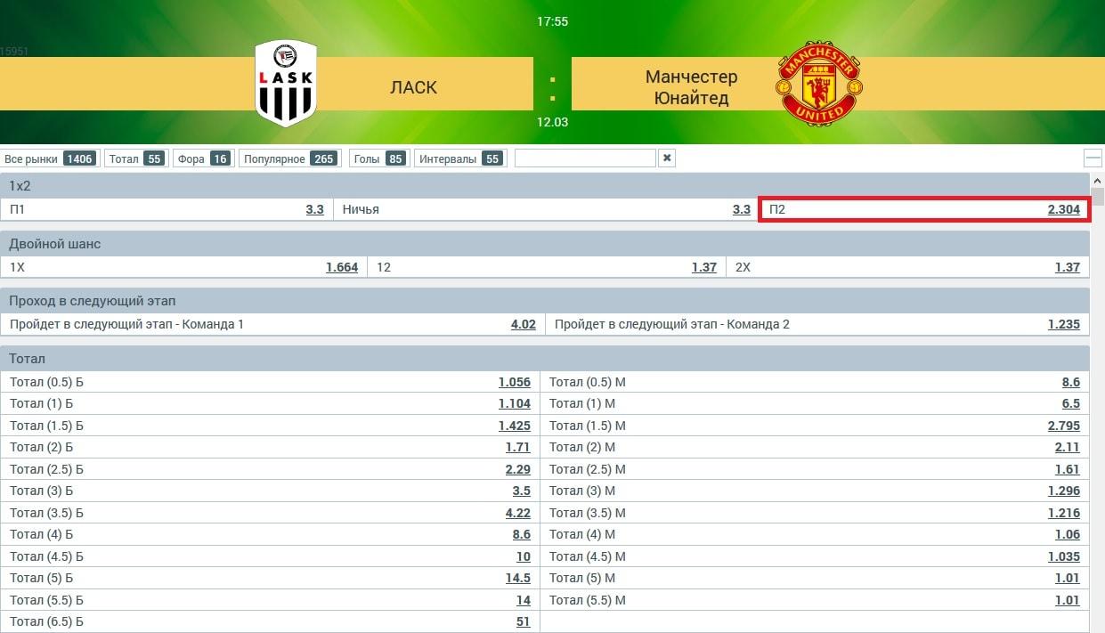 матч «ЛАСК» - «Манчестер Юнайтед»